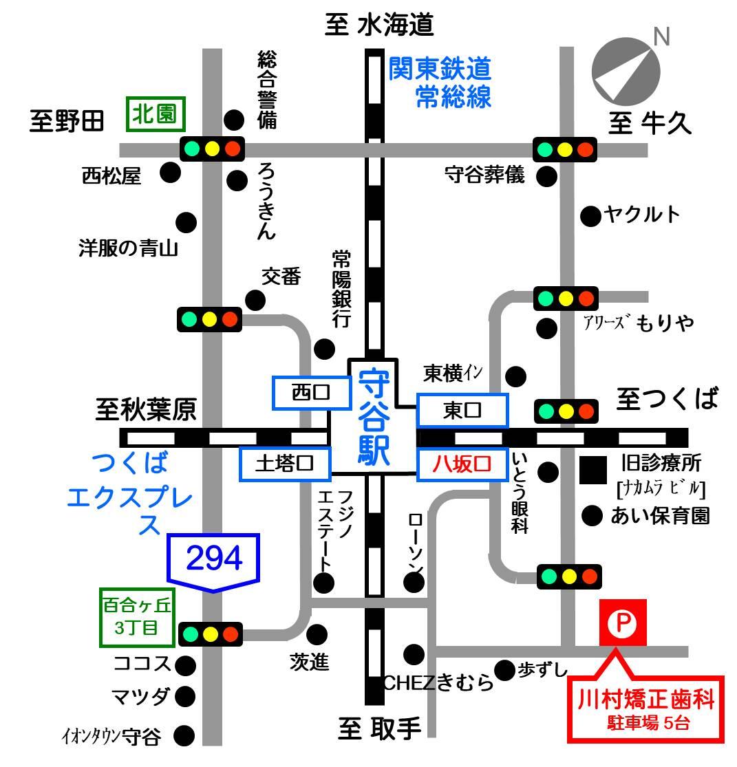 川村矯正歯科への地図